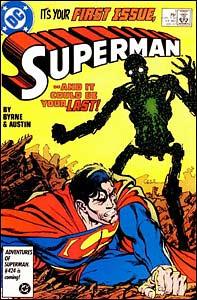 Superman #1, arte de John Byrne