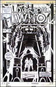 Dr. Who #19, arte de Dave Gibbons