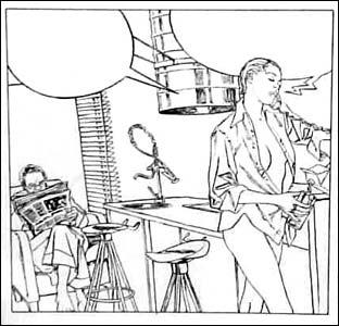 Detalhe da arte de Marcello Quintanilha