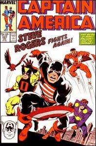 Captain America #337 - Steve Rogers adota um novo uniforme