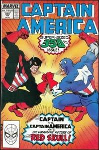 Captain America #350 - O confronto entre liberais e conservadores