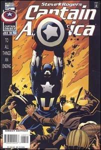 Captain America #453 - Homem Sem Pátria, história indicada para o Prêmio Eisner e com participação especial de Bill Clinton