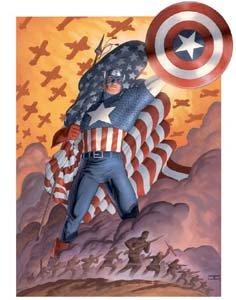Captain America Vol. 4 #1 - Começa o período pós-atentados de 11 de setembro