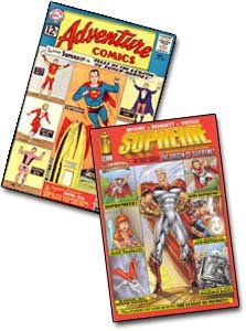 Adventure Comics # 300, de 1961, e Supreme #42, de 1996