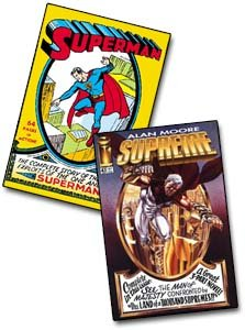 Superman #1, de 1939, e Supreme #41, de 1996