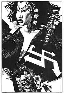 Sin City pin-up, arte de Sergio Toppi