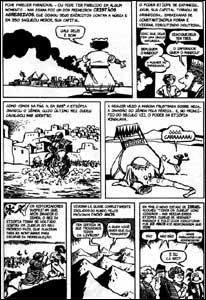 Página de História do Mundo em Quadrinhos - A Ascensão do Mundo Árabe e a História da África