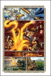 Página de Thor, arte de Andrea DiVito