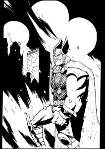 Thor, no traço de Michael Oeming
