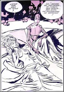 4º lugar: Barbarella e seu amante robô