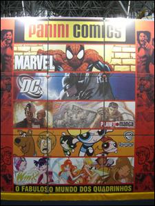 Estande da Panini Comics