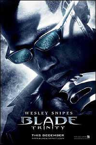 Cartaz de Blade Trinity, o último filme da série com Wesley snipes