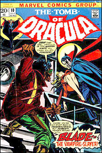The Tomb of Dracula #10, revista que introduz o personagem Blade