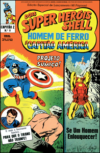 Capitão Z Apresenta Dois Super-Heróis Shell: Capitão América & Homem de Ferro