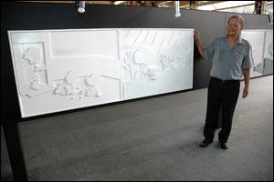 Antonio Cedraz na exposição Todos os Sentidos