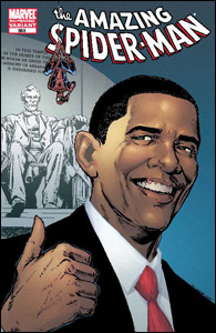 Barack Obama na revista do Homem-Aranha