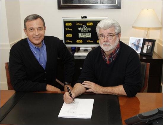Robert A. Iger e George Lucas