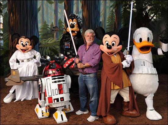 George Lucas e os personagens Disney