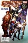Os Guardiões da Galáxia originais na capa de Guardians of the Galaxy # 16