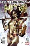 Gamora, na capa de Nova # 6,. Arte de Adi Granov.