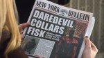 New York Bulletin e a capa de Daredevil vol. 2 # 60