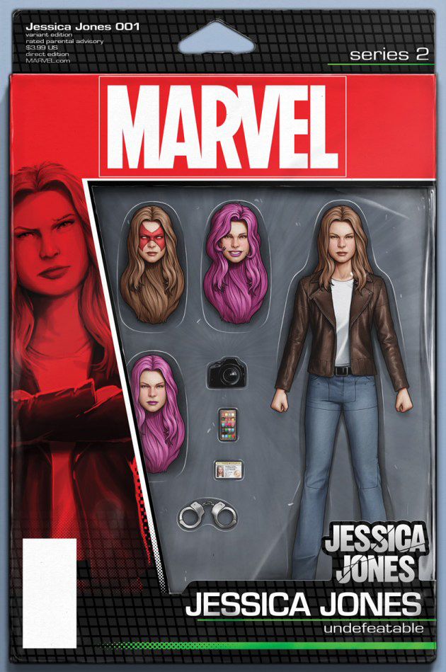 Jessica Jones # 1, capa de John Tyler Christopher