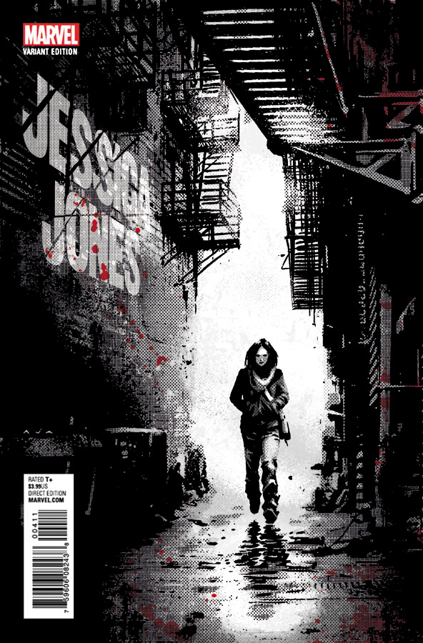 Jessica Jones # 1, capa de David Aja