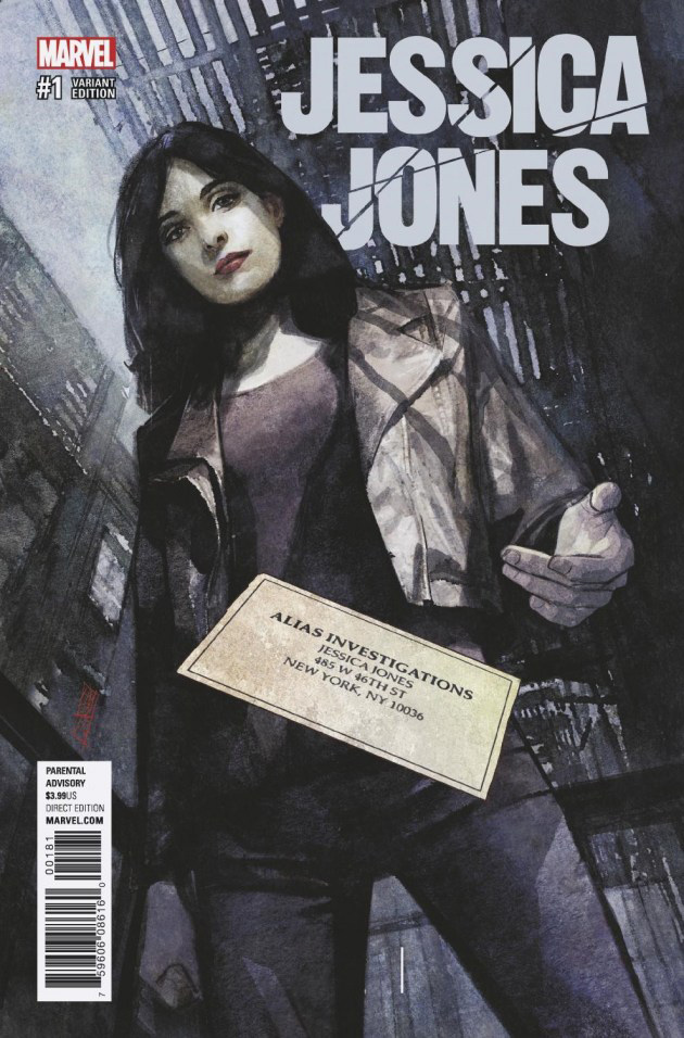 Jessica Jones # 1, capa de Alex Maleev