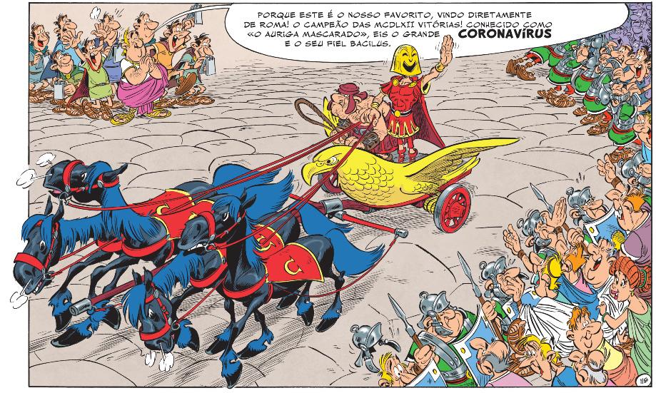 Detalhe de Asterix e a Transitálica