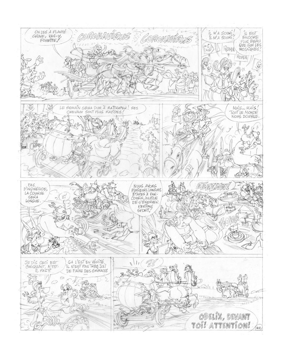 Página de Asterix e a Transitálica