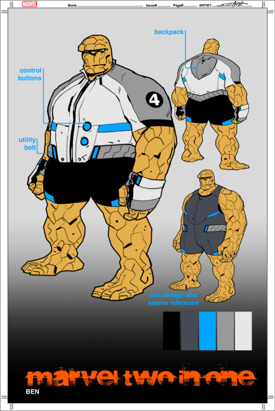 Novos uniformes do Quarteto Fantástico