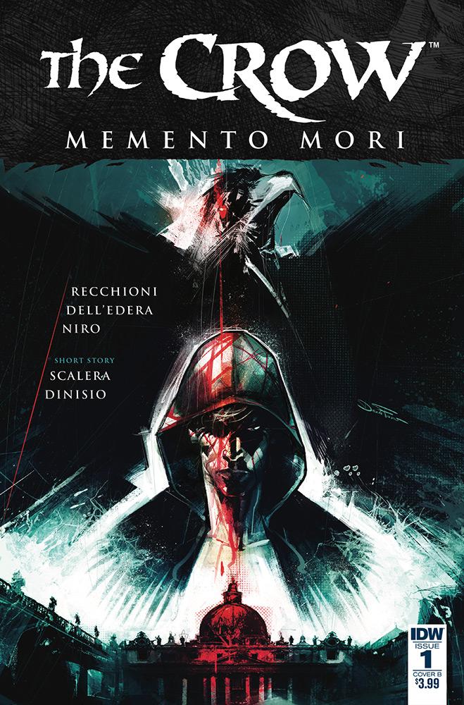 The Crow - Memento Mori # 1, edição da IDW. Capa alternativa