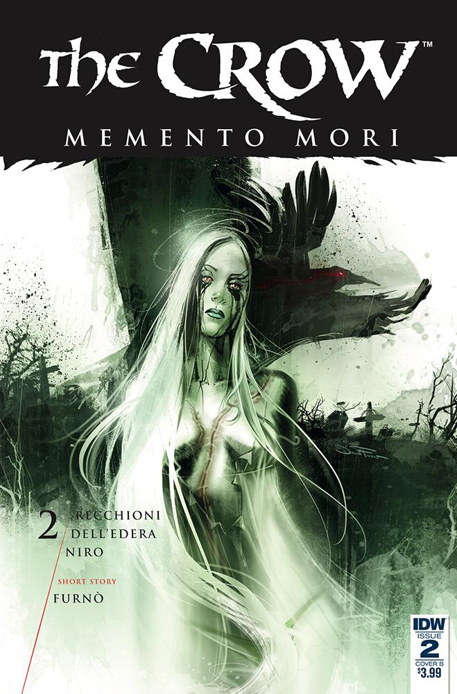The Crow - Memento Mori # 2, edição da IDW. Capa alternativa