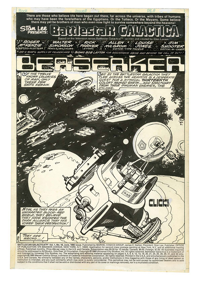 Battlestar Galactica, arte de Walt Simonson