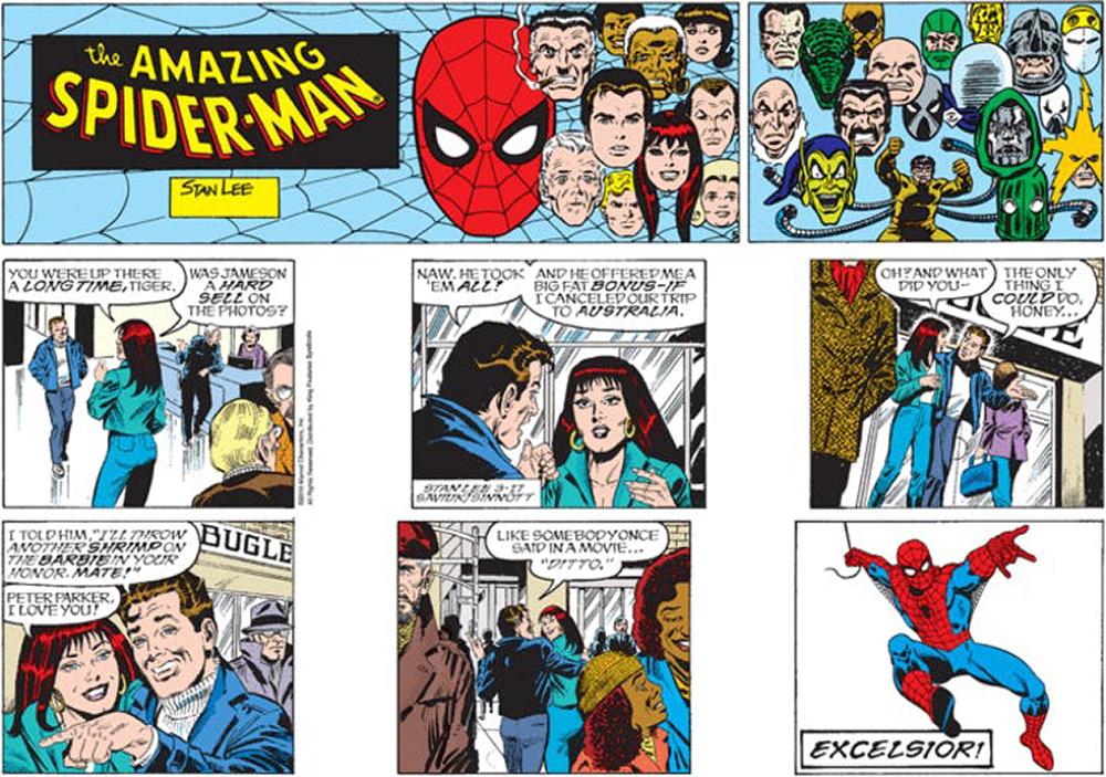 Última tira dominical do Homem-Aranha