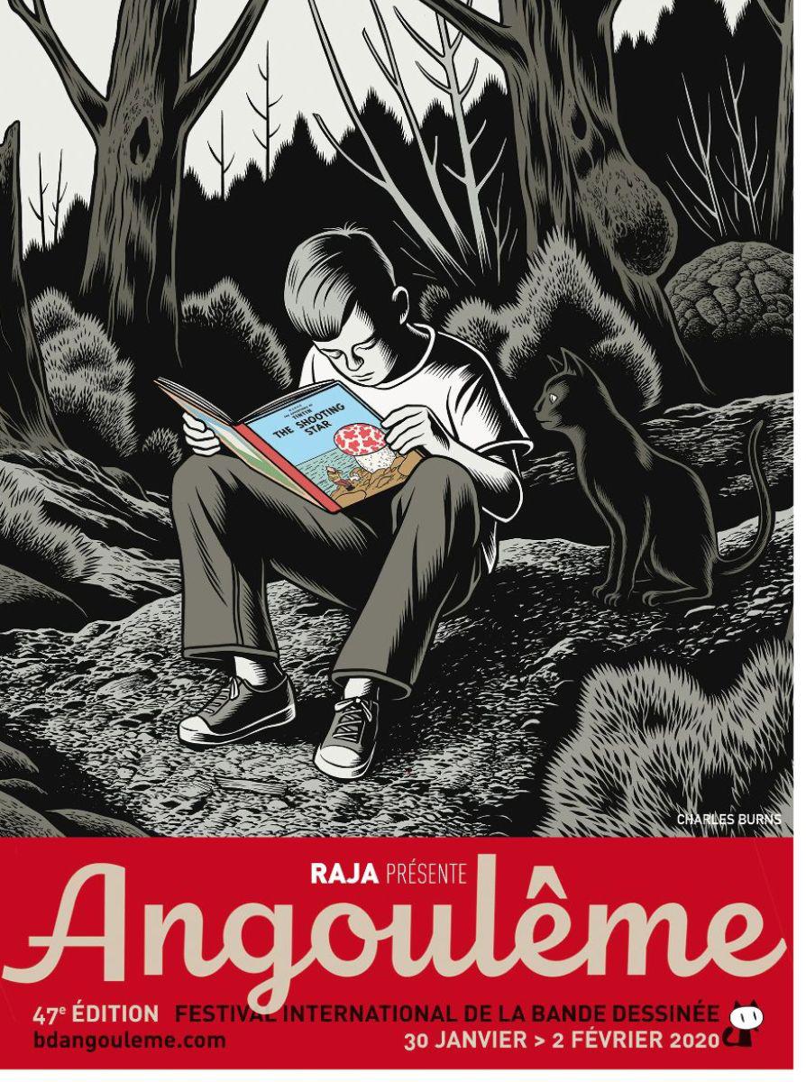 Cartaz de Charles Burns para o Festival de Angoulême